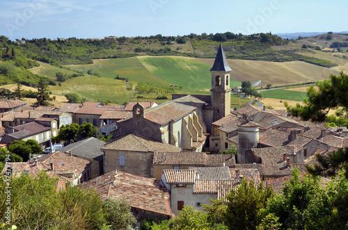Leinwandbild Motiv Village of Lautrec in France