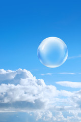 bubble high in sky