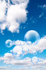 bubbles in air