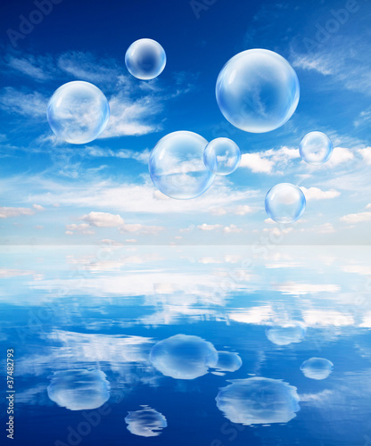 bubbles reflection
