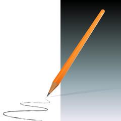 Orange Pencil (EPS10)