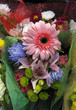 Bright Summer Flower Bouquets in florist shop