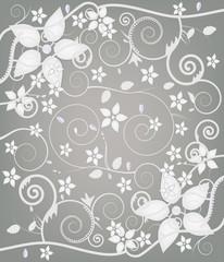 sfondo floreale astratto con fiori e diamanti