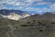 Amazing Leh Mountain Landscape with dramatic clouds