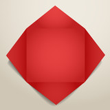 Color polygonal paper envelope poster