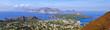 Leinwanddruck Bild - Abitato di Vulcano ed isole Eolie
