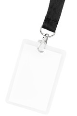 Blank badge or ID pass isolated with clipping path