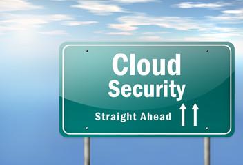 "Highway Signpost ""Cloud Security"""