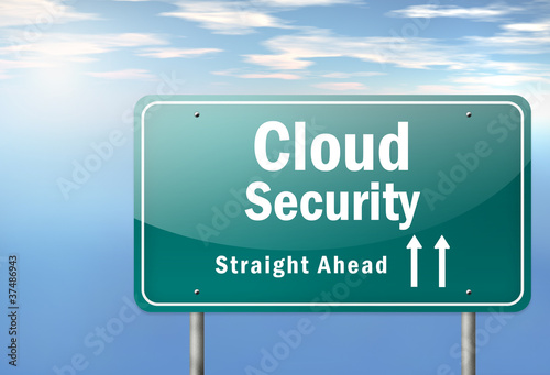 "Highway Signpost ""Cloud Security"""