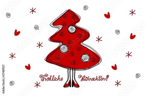 Weihnachtskarte (Humor, de)