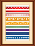 Ribbon Sampler in Wood Frame
