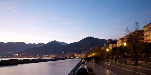 Lungomare di Salerno al tramonto