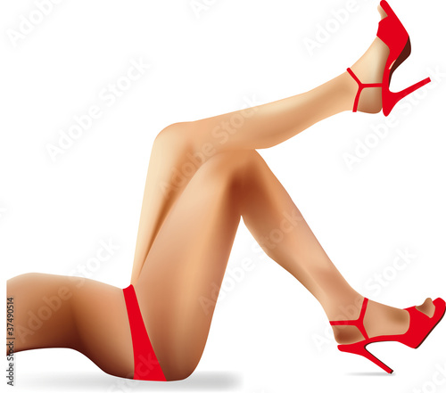 wektor kobieta nogi