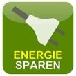 Button Grün Stecker - Energie sparen