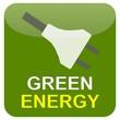 Button Grün Stecker - Green Energy