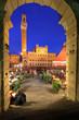 Piazza del Campo and Palazzo Publico, Siena, Italy