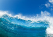 Blue Ocean Wave, View from in the Water