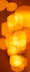 An abstract lights background with orange and yellow colors