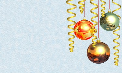 Christmas and New Year's background