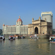 Gate of India and hotel Taj Mahal Palace  in Mumbai