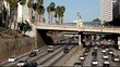 Sunday Traffic  in downtown Los Angeles