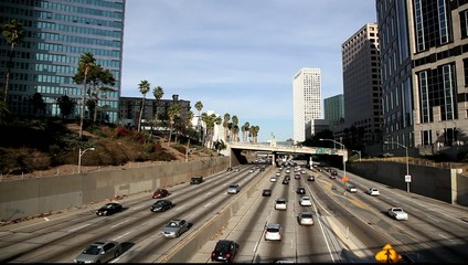 Sunday Traffic  in downtown LA