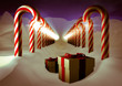 3d vintage illustraion Christmas night