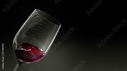 3D Glass of Red Wine