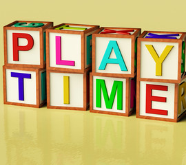 Kids Blocks Spelling Play Time As Symbol for Fun And School