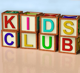 Blocks Spelling Kids Club As Symbol for Childrens Fun