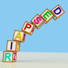 Blocks Spelling Despair Falling Over As Symbol for Stress And Pa