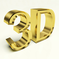 Gold Letters 3d Metallic Characters