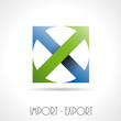 Logo import export # Vector
