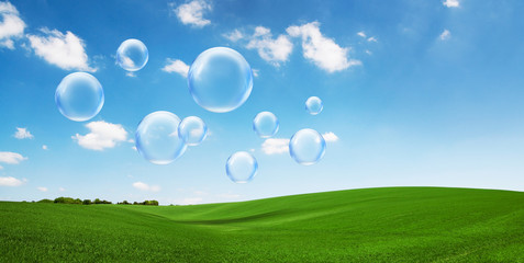 bubbles over fields