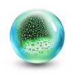 glass ball rain drops