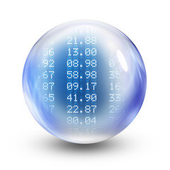 glass sphere numbers