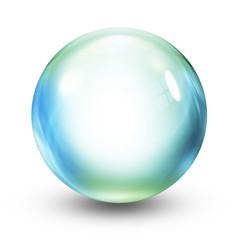 isolated crystal ball