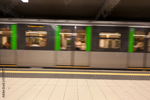 Subway Train, Motion Blur Effect