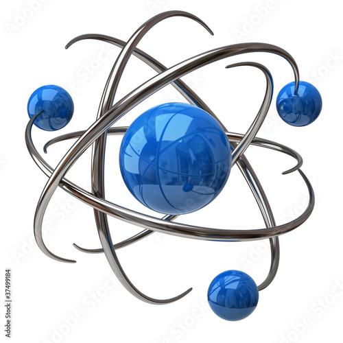 Digital illustration of atom