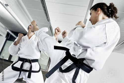 Fotobehang Vechtsporten two fighters