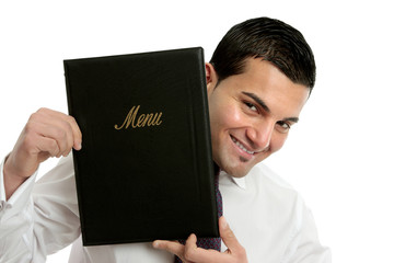 Smiling waiter or businessman