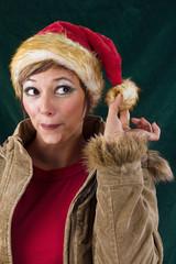 Cheeky female Santa Claus