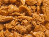 close up of vegetarian mock meat food background poster