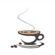 hot coffee , cafeteria , business logo design