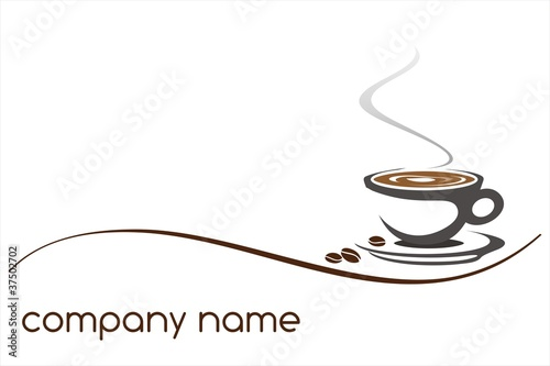hot coffee , cafeteria , logo design