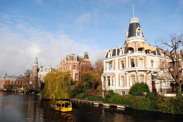 Typische Gracht in Amsterdam