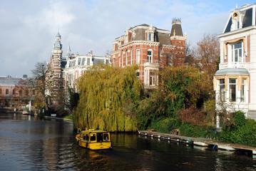 Grachtenansicht in Amsterdam