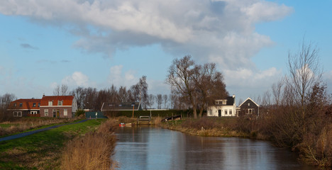 Colorful Dutch landscape in autum