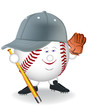 smiling in a baseball