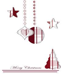 composizione natalizia stile patchwork